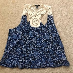 Lace tank top - large